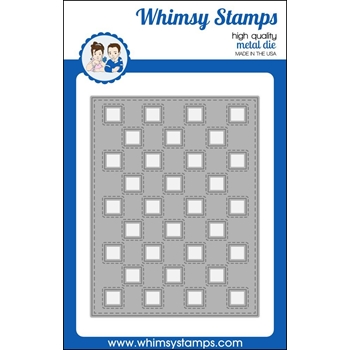 Whimsy Stamps CHECKER BACKGROUND Die WSD383