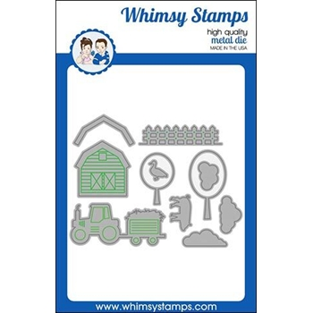 Whimsy Stamps BUILD A FARM Dies WSD394