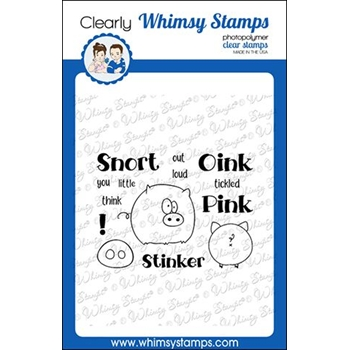 Whimsy Stamps OINK Clear Stamps CWSD270