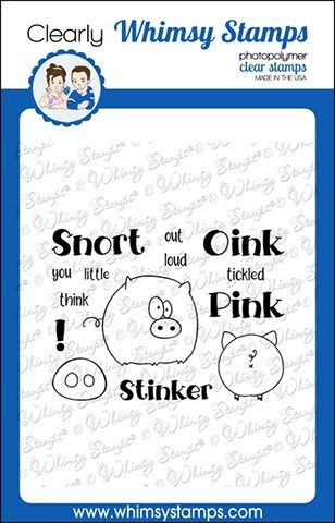 Whimsy Stamps OINK Clear Stamps CWSD270 zoom image