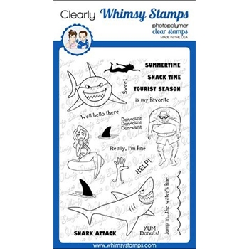 Whimsy Stamps SNARK ATTACK Clear Stamps CWSD260