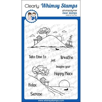 Whimsy Stamps HAPPY PLACE Clear Stamps CWSD264