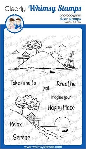 Whimsy Stamps HAPPY PLACE Clear Stamps CWSD264 zoom image