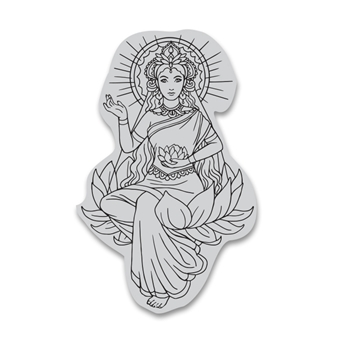 Hero Arts Cling Stamp LOTUS LADY CG780