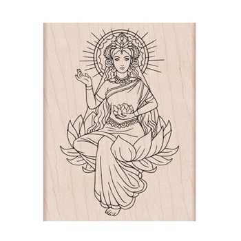 Hero Arts Rubber Stamp LOTUS LADY K6358