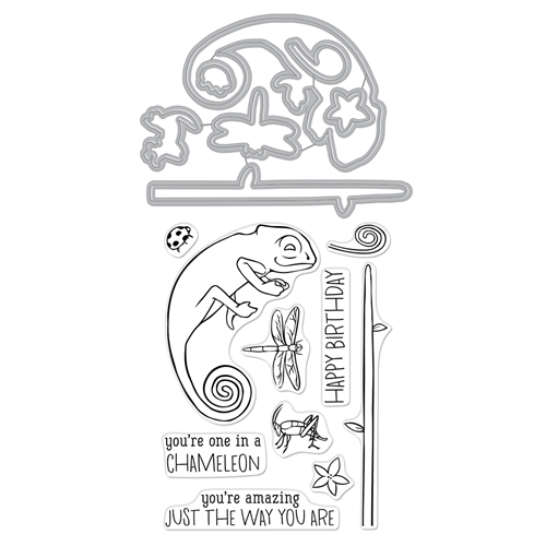 Hero Arts Stamp and Cuts CHAMELEON Coordinating Set DC265 Preview Image