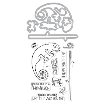 Hero Arts Stamp and Cuts CHAMELEON Coordinating Set DC265