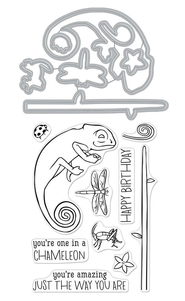 Hero Arts Stamp and Cuts CHAMELEON Coordinating Set DC265 zoom image