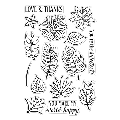Hero Arts Clear Stamps TROPICAL FLOWERS CM372 Preview Image