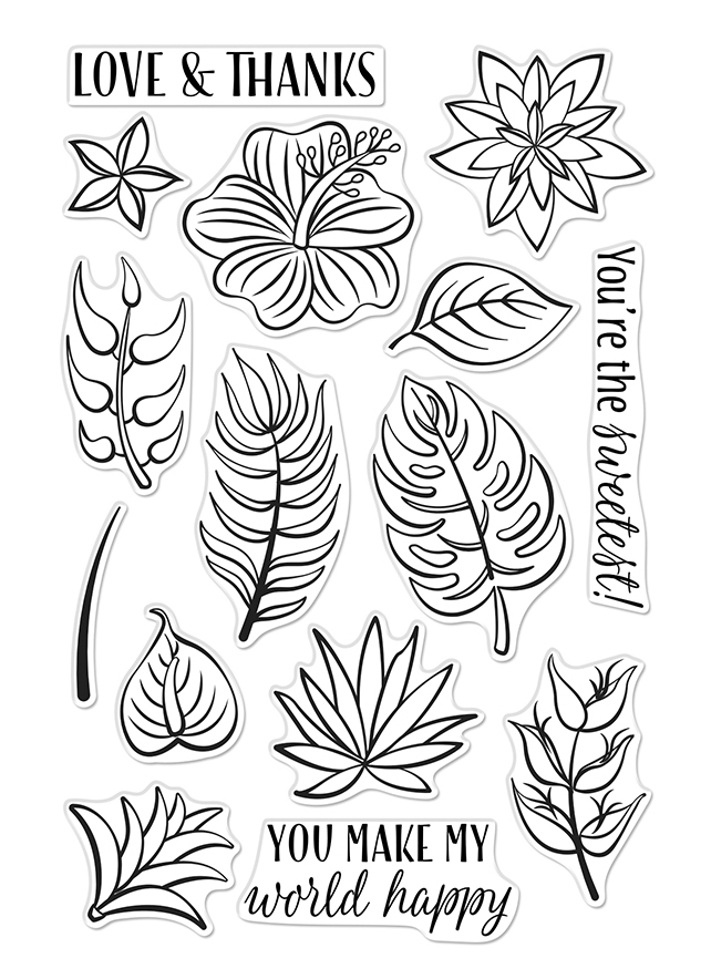 Hero Arts Clear Stamps TROPICAL FLOWERS CM372 zoom image