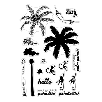 Hero Arts Clear Stamps Color Layering PALM TREE CM371