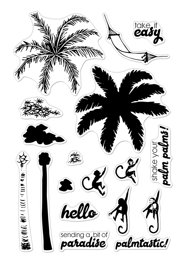 Hero Arts Clear Stamps Color Layering PALM TREE CM371 zoom image