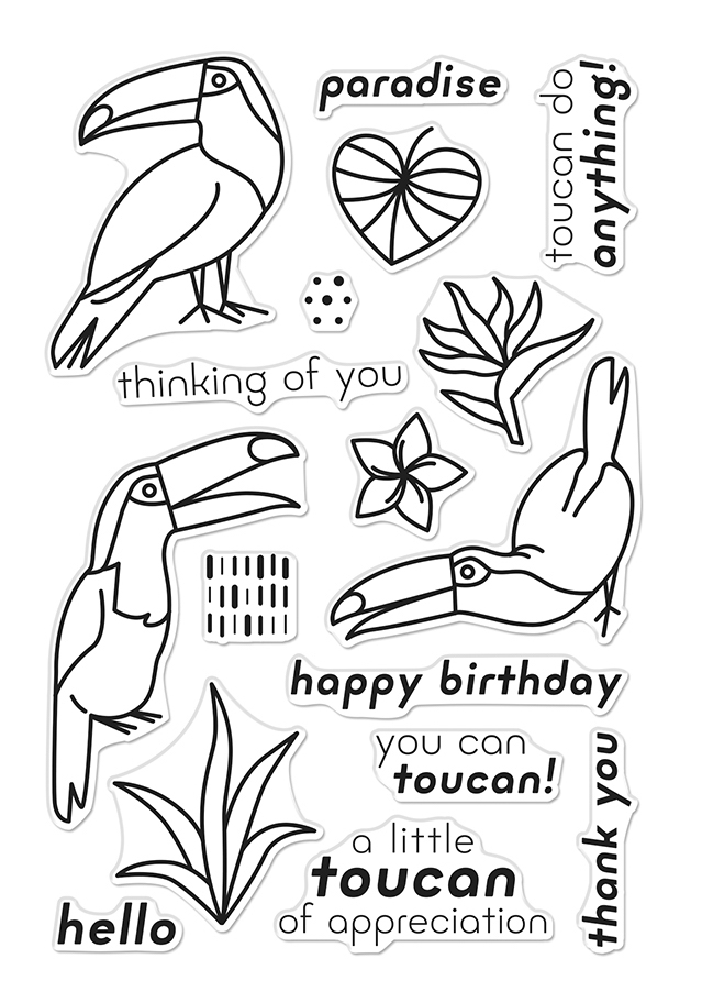 Hero Arts Clear Stamps HELLO TOUCAN CM370 zoom image
