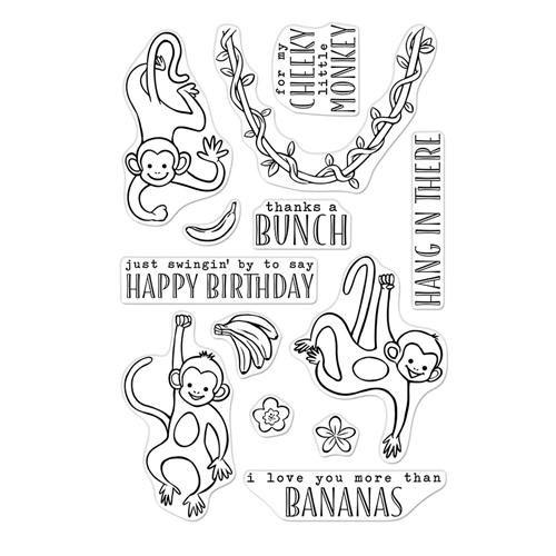Hero Arts Clear Stamps THANKS A BUNCH MONKEYS CM368 Preview Image
