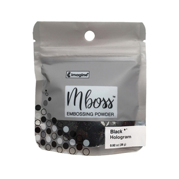 Tsukineko BLACK HOLOGRAM MBOSS Embossing Powder em000044*