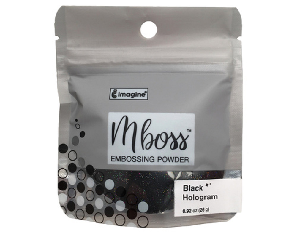 Tsukineko BLACK HOLOGRAM MBOSS Embossing Powder em000044 zoom image