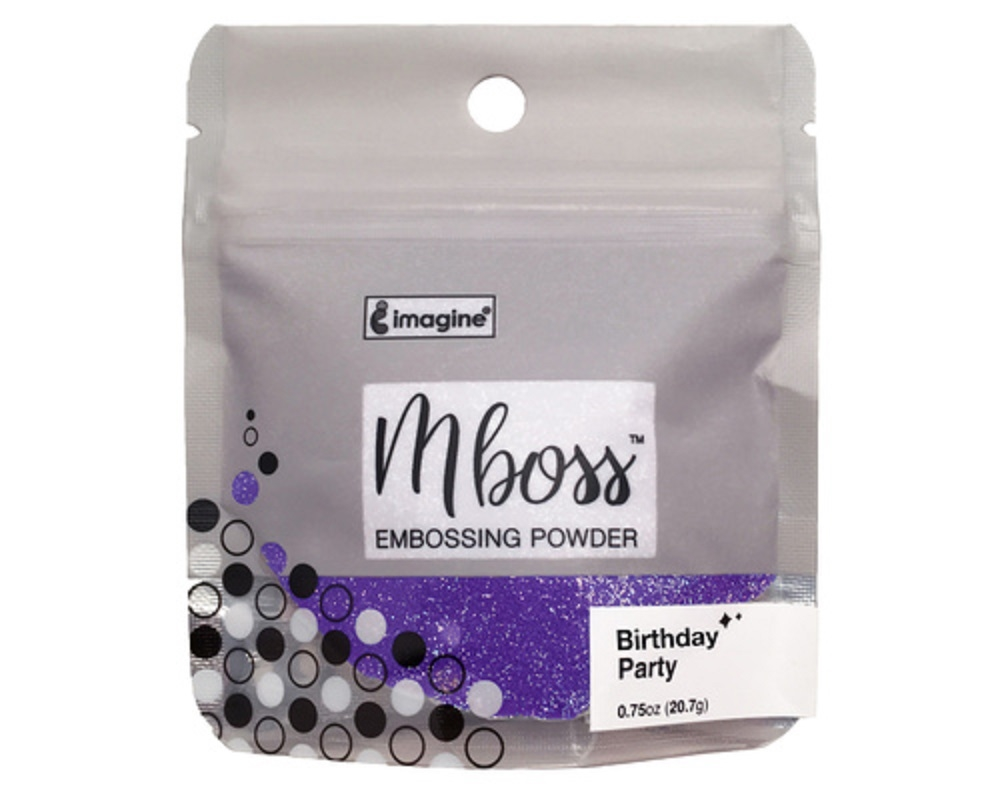 Tsukineko BIRTHDAY PARTY MBOSS Embossing Powder em000046 zoom image