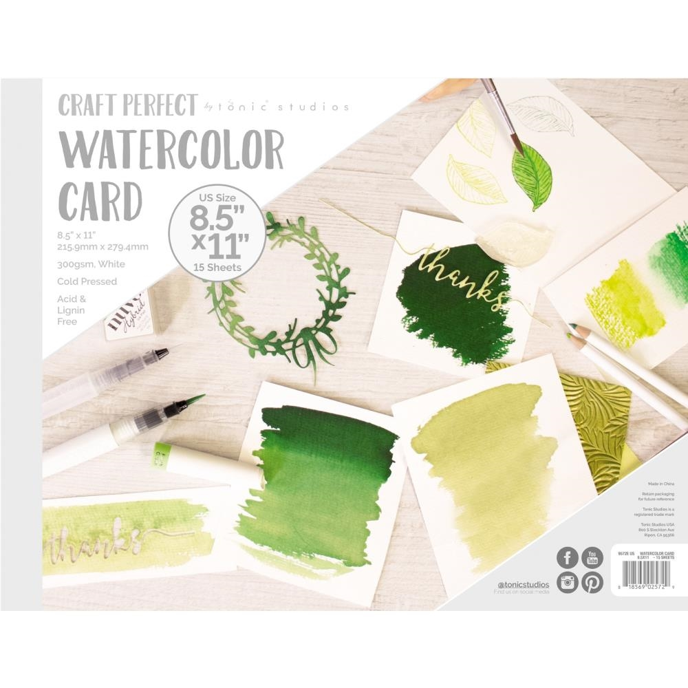 Tonic 8.5 X 11 WATERCOLOR CARD Craft Perfect 9572e zoom image