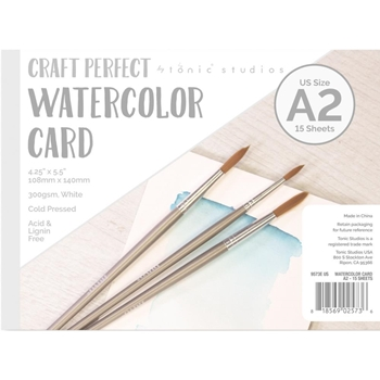 Tonic A2 WATERCOLOR CARD Craft Perfect 9573e