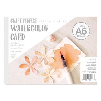 Tonic A6 WATERCOLOR CARD Craft Perfect 9574e