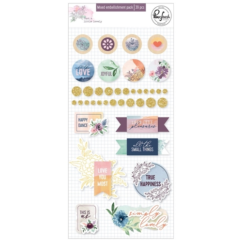 Pinkfresh Studio JUST A LITTLE LOVELY Mixed Embellishment Pack pfrc500519 Preview Image
