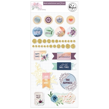 Pinkfresh Studio JUST A LITTLE LOVELY Mixed Embellishment Pack pfrc500519