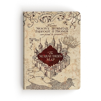 Paper House HARRY POTTER MARAUDER'S MAP Softcover Journal JL-3000