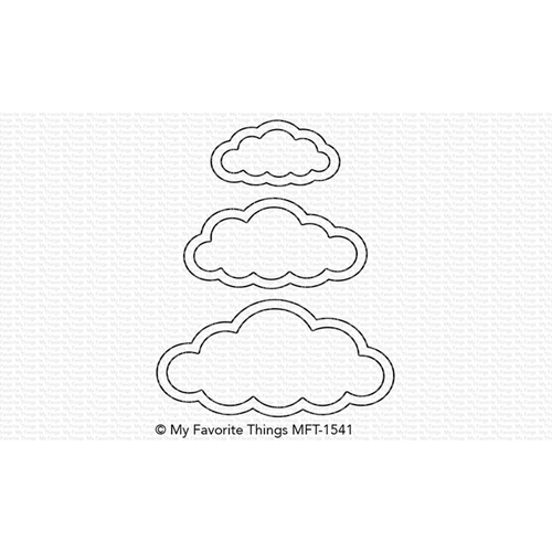 My Favorite Things CUTE CLOUD OUTLINES Die-Namics MFT1541 Preview Image