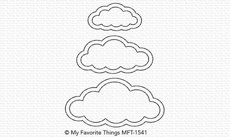 My Favorite Things CUTE CLOUD OUTLINES Die-Namics MFT1541 zoom image