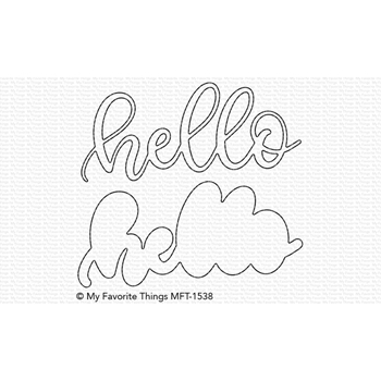 My Favorite Things SWEET HELLO Die-Namics MFT1538