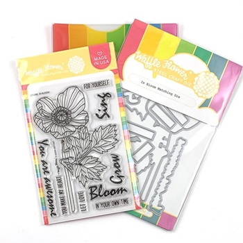 Waffle Flower IN BLOOM Clear Stamp and Die Combo WFC248