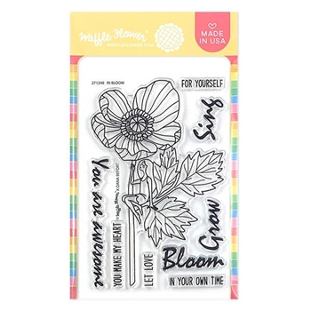 Waffle Flower IN BLOOM Clear Stamps 271248