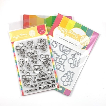 Waffle Flower P-ARR-TY TIME Clear Stamp and Die Combo WFC250