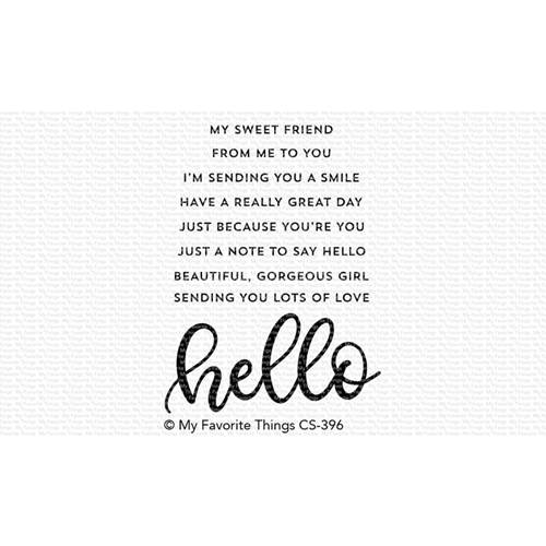 My Favorite Things WELL HELLO Clear Stamps CS396 Preview Image