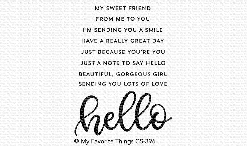My Favorite Things WELL HELLO Clear Stamps CS396 zoom image