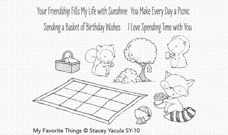 My Favorite Things PICNIC PALS Clear Stamps SY10 zoom image