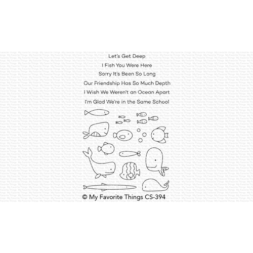My Favorite Things FISH YOU WERE HERE Clear Stamps CS394 Preview Image