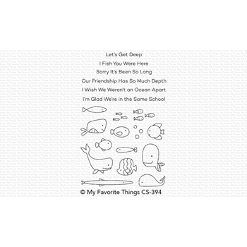 My Favorite Things FISH YOU WERE HERE Clear Stamps CS394