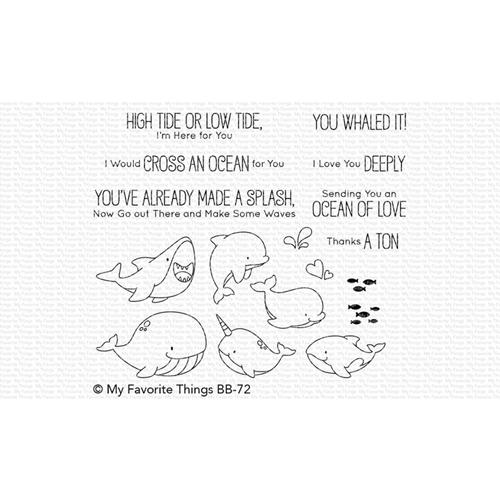 My Favorite Things FRIENDS WITH FINS Clear Stamps BB72 Preview Image