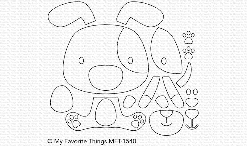 My Favorite Things PUPPY LOVE Die-Namics MFT1540 zoom image