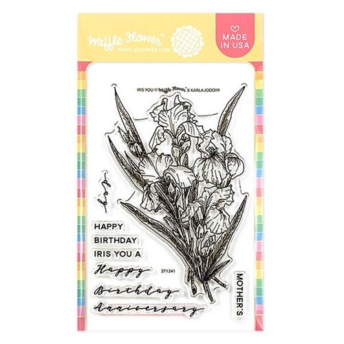 Waffle Flower IRIS YOU Clear Stamps 271241 Preview Image