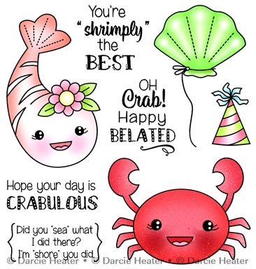 Darcie's CRABULOUS Clear Stamp Set pol437 zoom image