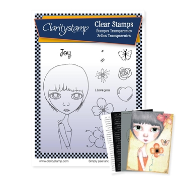 ClarityStamp DEE'S FRIENDS JOY Clear Stamps and Stencil stape10691a5