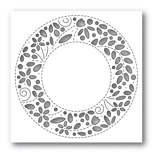 Simon Says Stamp FILIGREE WREATH Wafer Die s653 Rest and Refresh Preview Image