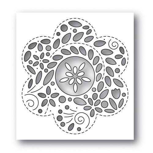 Simon Says Stamp FILIGREE FLOWER Wafer Die s650 Rest and Refresh Preview Image