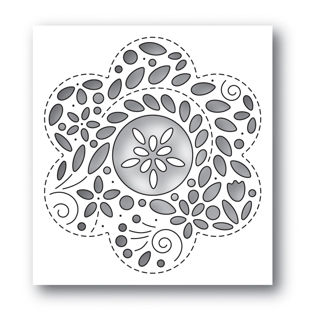 Simon Says Stamp FILIGREE FLOWER Wafer Die s650 Rest and Refresh zoom image