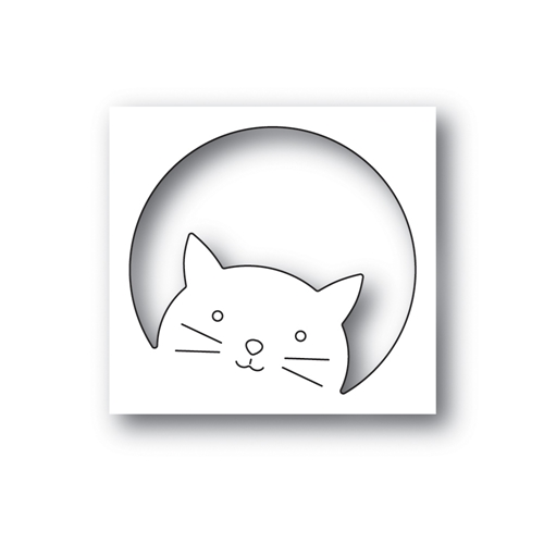 Simon Says Stamp PEEKING CAT Wafer Die s658 Rest and Refresh Preview Image