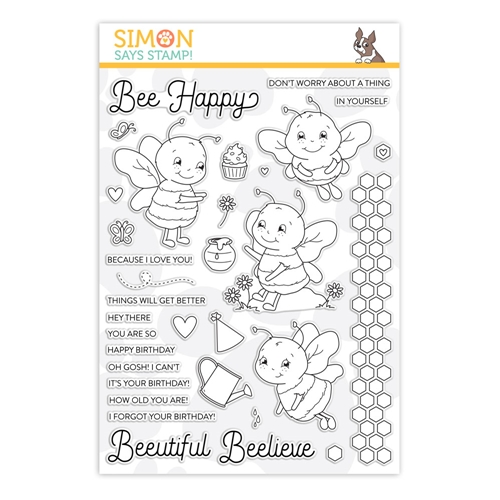Simon Says Clear Stamps BEE HAPPY sss202019 Rest and Refresh Preview Image
