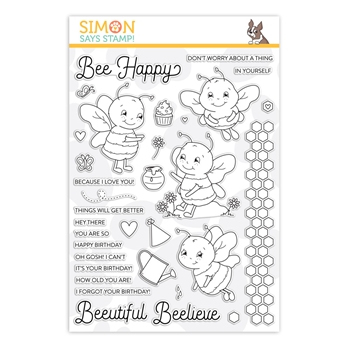 Simon Says Clear Stamps BEE HAPPY sss202019 Rest and Refresh
