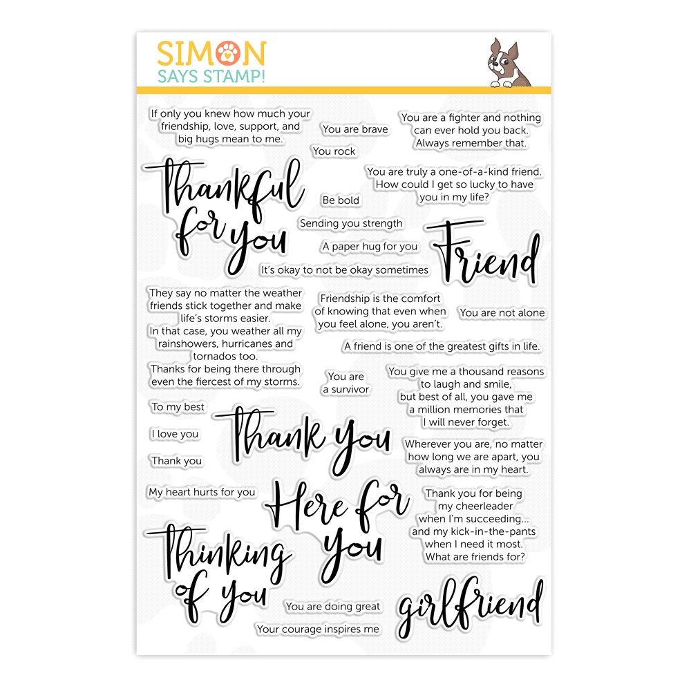 Simon Says Clear Stamps SAY IT ALL FRIEND sss202000 Rest and Refresh zoom image